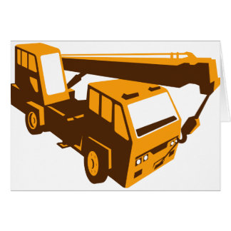 truck crane cartage hoist retro card