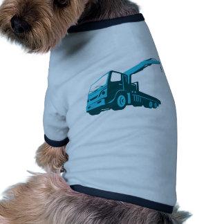 truck crane cartage hoist retro pet t shirt