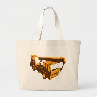 truck crane cartage hoist retro large tote bag