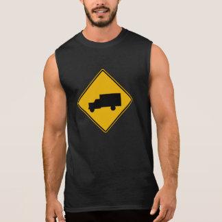 Truck Crossing Traffic Warning Sign USA Sleeveless Tees