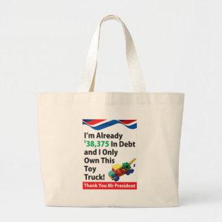 Truck Debt Large Tote Bag