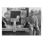 Truck del recogedor migratorio de la fruta, 1940 tarjeton