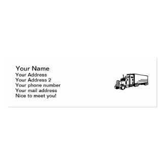 Truck Double-Sided Mini Business Cards (Pack Of 20)