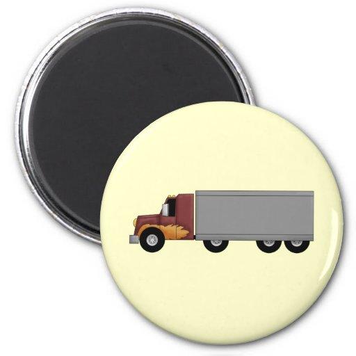 Truck Driver 2 Inch Round Magnet