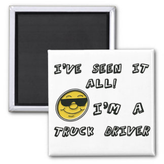 Truck Driver 2 Inch Square Magnet