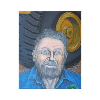 Truck Driver and Big Wheel Canvas Print
