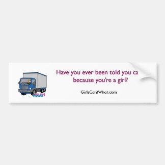 Truck Driver - Blue Truck Bumper Sticker