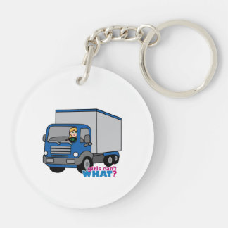 Truck Driver - Blue Truck Acrylic Key Chains