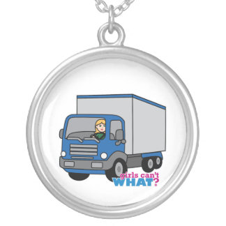 Truck Driver - Blue Truck Necklace