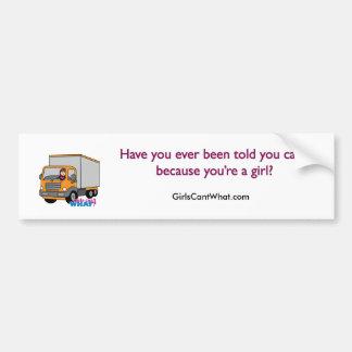 Truck Driver Car Bumper Sticker
