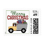 Truck Driver Christmas Postage Stamps