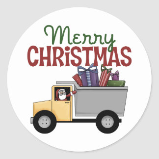 Truck Driver Christmas Stickers