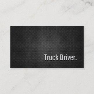 Truck Driver Cool Black Metal Simplicity Business Card