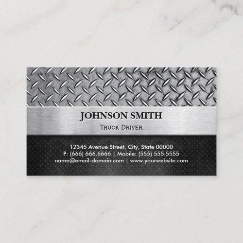 Truck Driver _ Diamond Metal Plate Business Card