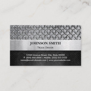 Diamond business cards zazzle truck driver diamond metal plate business card colourmoves