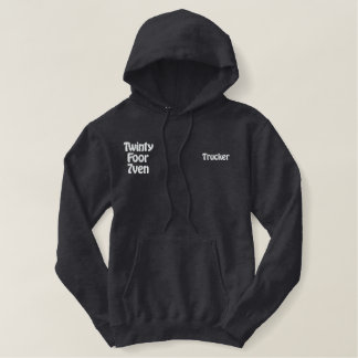 Truck Driver Embroidered Hoodie