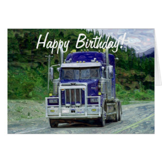 TRUCK Driver Funny Trucker Birthday Cards