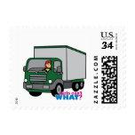 Truck Driver - Green Truck Stamp
