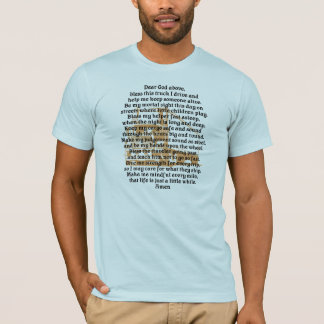Truck Driver Prayer Mens T-Shirt