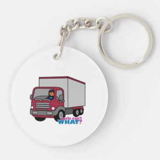 Truck Driver - Red Truck Keychain