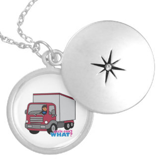Truck Driver - Red Truck Custom Necklace
