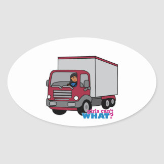 Truck Driver - Red Truck Stickers