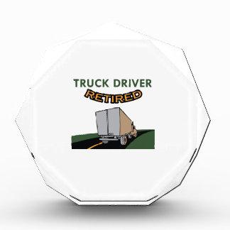 TRUCK DRIVER RETIRED ACRYLIC AWARD