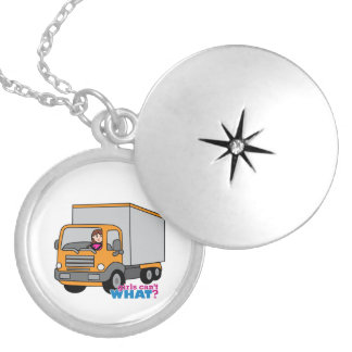 Truck Driver Silver Plated Necklace