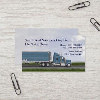 Truck Driver Trucking Firm Business Card