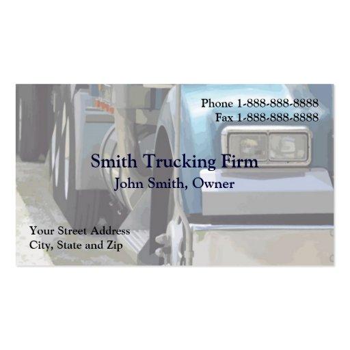 Truck driver trucking firm business card zazzle for Trucking business card