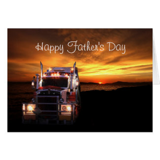 Truck Drivers Father's Day Card