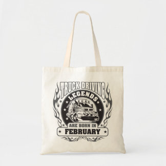 Truck Driving Legends Are Born In February Tote Bag