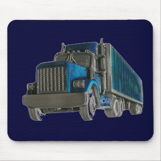 truck driving mouse pad