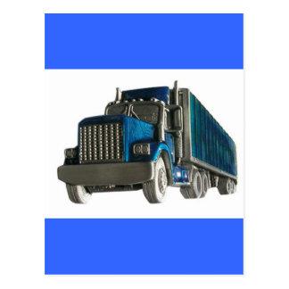 truck driving postcard