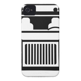Truck Front black n white Case-Mate iPhone 4 Case