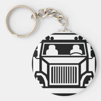 Truck Front black n white Keychain