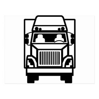 Truck Front black n white Postcard