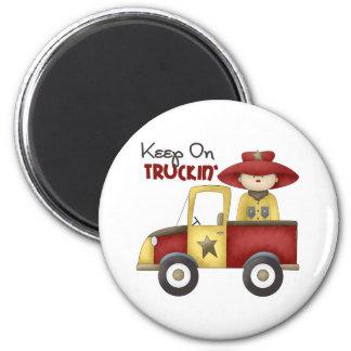 Truck Gift For Boys Refrigerator Magnet