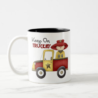 Truck Gift For Boys Two-Tone Coffee Mug