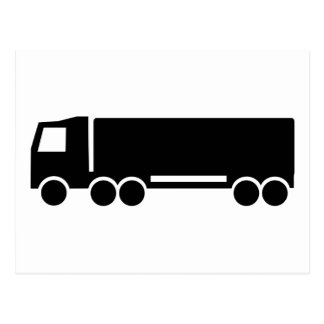 Truck icon postcard