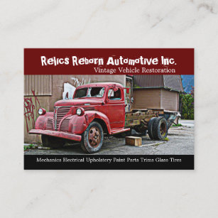 Truck repair business cards zazzle truck in back alley mechanics repair shop business card colourmoves