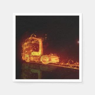 Truck in Flames - Paper Napkin