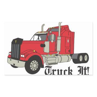 Truck It! Rectangular Sticker