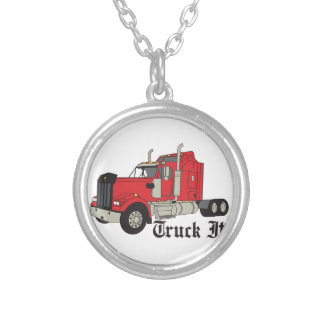 Truck It! Silver Plated Necklace