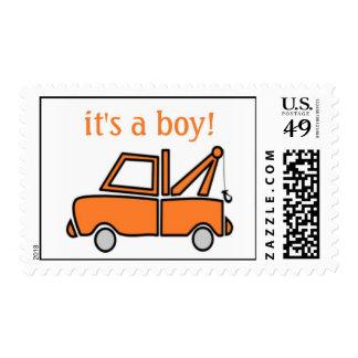 truck; it's a boy! postage