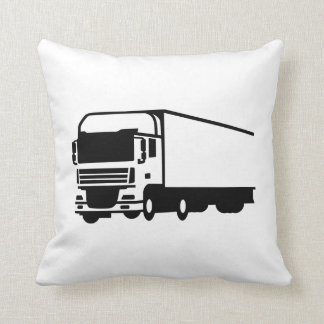 Truck lorry throw pillow