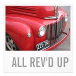 Truck Lover 70th Birthday - All Rev'd Up Custom Announcements
