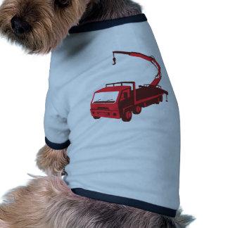 truck mounted crane cartage hoist retro doggie t shirt