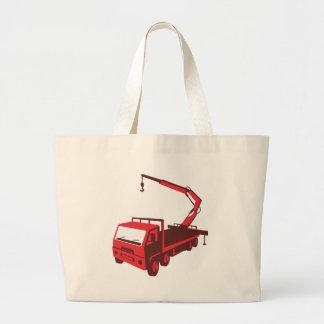 truck mounted crane cartage hoist retro large tote bag