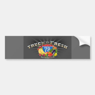 Truck N Fresh Bumper Sticker Car Bumper Sticker